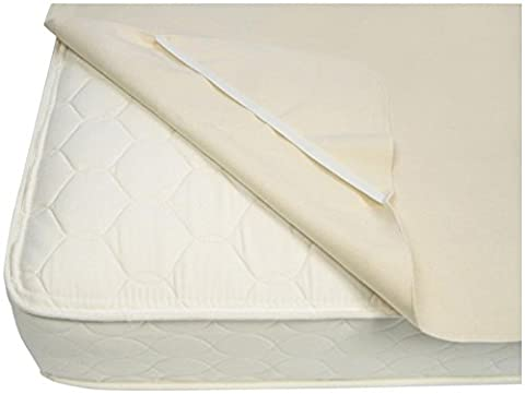 Naturepedic Organic Waterproof Protector Pad with Straps, TwinXL (Naturepedic Mattress Protector)