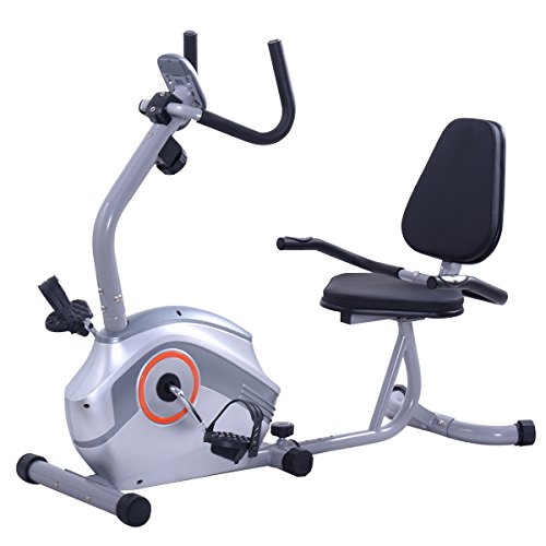 Goplus Recumbent Exercise Bike Magnetic Stationary Bicycle Cardio Workout Fitness Home Gym New