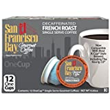 San Francisco Bay OneCup Decaf French Roast (12 Count) Single Serve Coffee Compatible with Keurig K-cup Brewers Single Serve Coffee Pods, Compatible with Cuisinart, Bunn, iCoffee single serve brewers