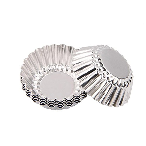 - 10Pcs Egg Tart Aluminum Cupcake Cake Cookie Mold Mould 3D Molds Pudding Tin Baking Tool