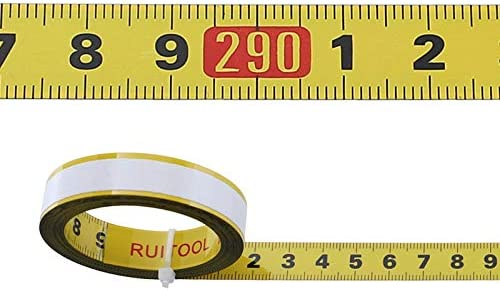 XWYJC 1-5M Metric Miter Saw Track Tape Measure 0.5'' Self-adhesive T-track Scale Steel Ruler Table Woodworking Measuring Tools 6JC83 (Color : 5M M) 1m M