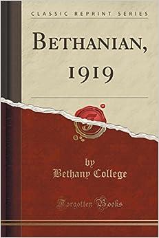 Bethanian, 1919 (Classic Reprint)