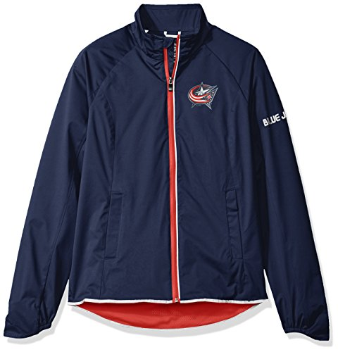 Columbus Blue Jackets Jacket (NHL Columbus Blue Jackets Women's Batter Light Weight Full Zip Jacket, Medium, Navy)