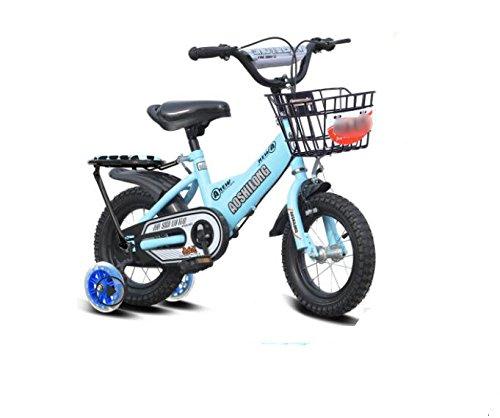 GETTEER 子ども用自転車 自転車 子供用 フラッシュ補助輪付き 格好いい 簡単組み立て式 B07DBNVKJD 16インチ|ブルー ブルー 16インチ