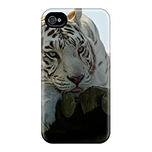 Fashionable Design Sad White Tiger Rugged Cases Covers For Iphone 6plus New