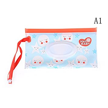 Rurah Wet Wipes Dispenser Storage Box Baby Outdoor Travel Stroller Wet Paper Towel Clean Wipes Carrying Portable Case