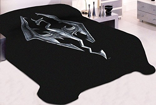 """Price comparison product image 45""""x60"""" Skyrim OFFICIAL Imperial Dragon Emblem Fleece Throw Wall Hanging Tapestry Blanket"""