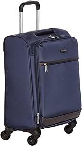 AmazonBasics Softside Trolley Luggage - 21-inch, Carry-on/Cabin Size, Navy Blue