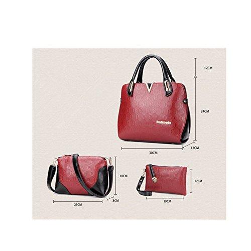 Casual Hobos Xagoo de las mujeres del bolso de hombro de la correa de mensajero y con el pequeño bolso de mano 3 habitaciones (Estilo 2) Estilo 2