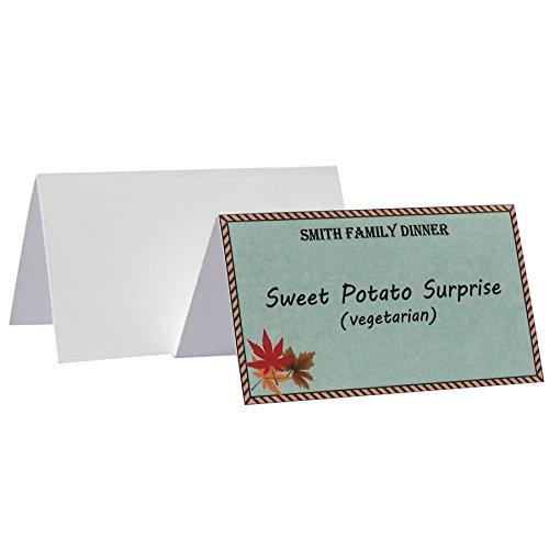 UPC 038944875279, C-Line Small Name Tent Cards, White, Scored, 2 x 3.5-Inches Folded, 160-Count (87527)