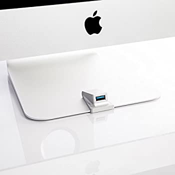iMacompanion - Front USB Port for iMac, Gives Easy Access to One of the USB Ports of your iMac or Tunderbolt Display, Keep your Desk Cable Free - Made out Aluminum Same Finish as iMac. Plug and Play
