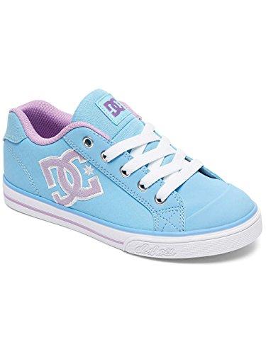 DC Mädchen Schuhe Chelsea SE Blau-weiß