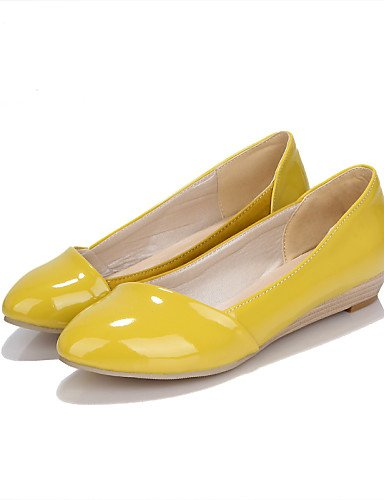 us10 Oficina Trabajo us10 Negro eu42 5 yellow cn43 us6 5 Cerrada Vestido yellow Tac¨®n Zapatos uk8 Casual Bailarina de Plano eu42 Planos Patentado yellow 5 cn37 5 ZQ 5 5 Cuero mujer uk4 eu37 Punta 7 y zaUqP