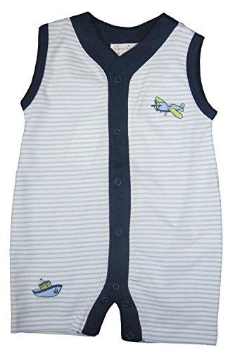 Kissy Kissy Baby-Boys Infant Away We Go Stripe Sleeveless Short Playsuit-Blue-3-6 Months