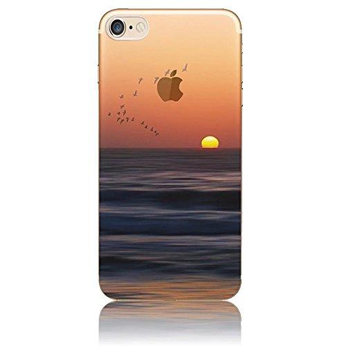 Funda para iPhone 4, Vandot TPU Silicona Pintado Funda para iPhone 4S Patrones de Pintura Case Suave Flexible Silicone Gel Paisaje Cajas de Teléfono móvil para iPhone 4 4S - Volcán y Estrella Cielo Scenery 22
