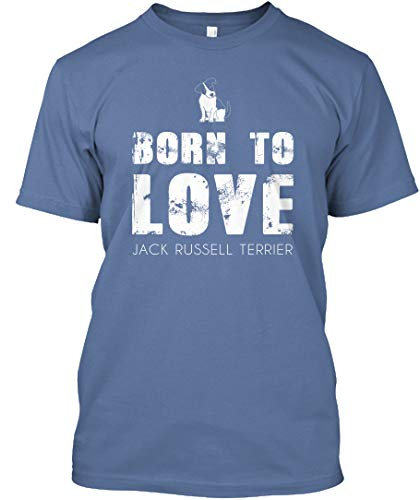 (Born to Love Jack Russell Terrier 3XL - Denim Blue Tshirt - Hanes Tagless Tee)