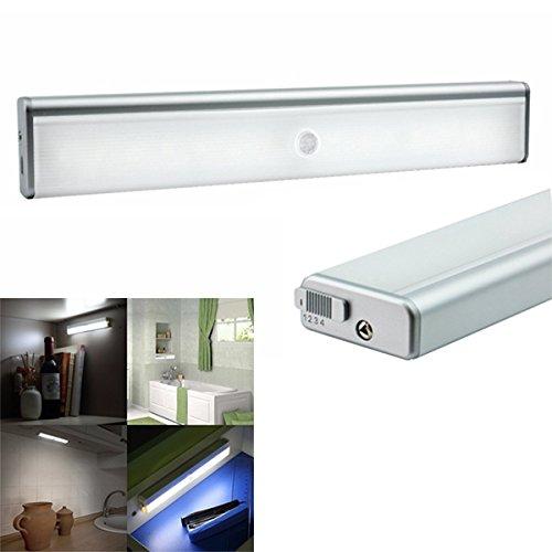 QIZIANG Wireless Light Sensor & PIR Bewegung Nachtlicht tragbare USB aufladbare Lampe für Schrank Schrank Hot