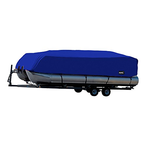MSC Trailerable Pontoon Boat Cover 300D UV,Mainre Grade, Color Grey,Pacific Blue Available (Pacific Blue, Model C - Fits: 25' to 28'L Beam Width to 104