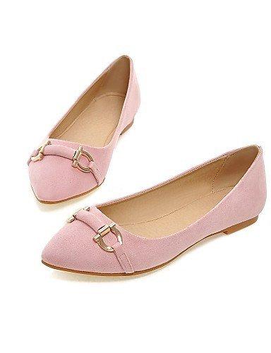 ShangYi Nero Piatto Ballerine Pink punta Grigio A Rosa Scarpe pelle Donna Finta Casual rq4xnrfF