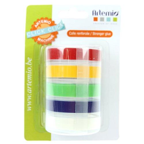 Artemio 5-Piece Refill Tapes for Click Click Classic Label Maker 18002930