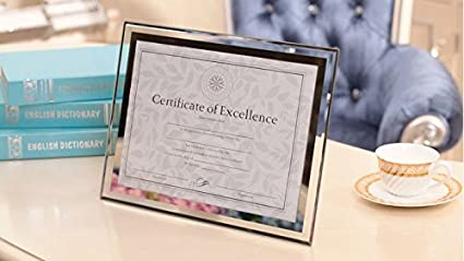 GracesDawn Crystal Glass Photo//Diploma//Document Frame Frame Picture Size 8.5 x 11 217mm279mm