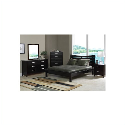 Coaster Contemporary Style Solid Wood Chest /Dresser, Cappuccino Finish - bedroomdesign.us