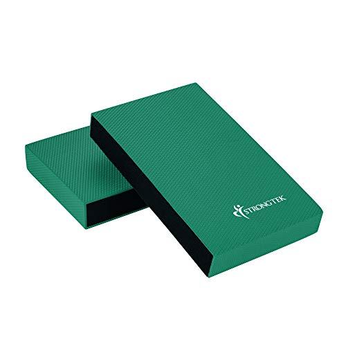 Balance Pad - Balancing Foam Pad, Large 2 in 1 Yoga Foam Cushion Exercise Mat & Knee Pad for Fitness and Stability, Stretching, Pilates, Physical Therapy | Core Trainer Board (Green, Large) ()