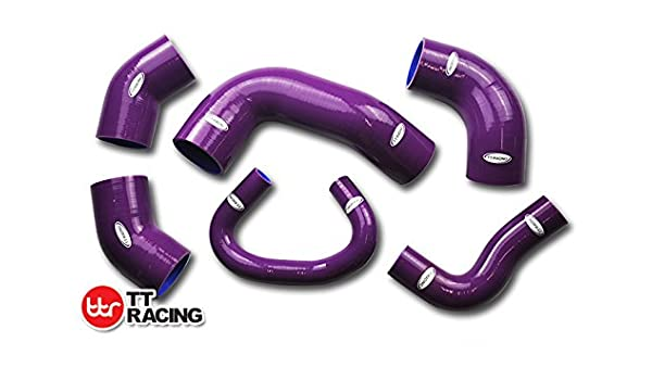 Mitsubishi Lancer Evo 7 8 ct9 a Turbo 4 G63 silicona Intercooler Turbo Hose Kit Morado: Amazon.es: Coche y moto