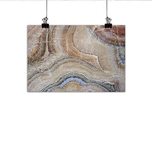 (Littletonhome Marble Wall Art Decor Poster Painting Surreal Onyx Stone Surface Pattern with Nature Details Artistic Picture Decorations Home Decor 24
