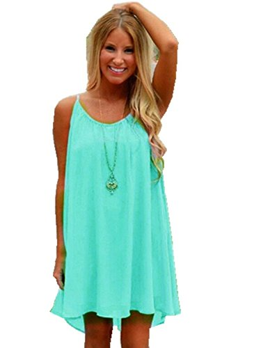 ReachMe Womens Summer Sexy Vibrant Color Chiffon Bathing Suit Cover up