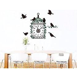 YHEGV CCYYJJ Wake Aviary Wall, Wall Clock, Creative, Children Gift