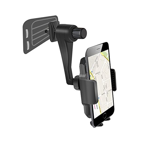 Hands Free Cell Phone Holder For Car Vent, Universal Car Air Vent Phone Mount Holder 360 Degree Rotable For Mobile Phone IPhone Samsung Galaxy HTC LG Huawei And More Mobile Phone  Black