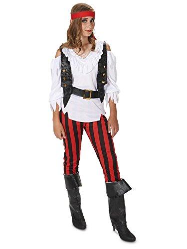 Dream Weavers Costumers - Rebel Pirate Girl Child Costume - Large (12-14) -