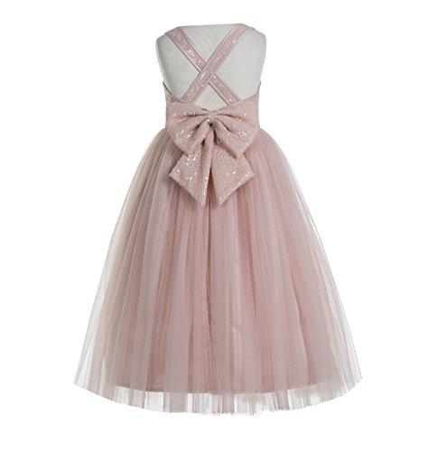 ekidsbridal Crossed Straps A-Line Flower Girl Dresses Junior Bridesmaid Dress Formal Dresses 177 12