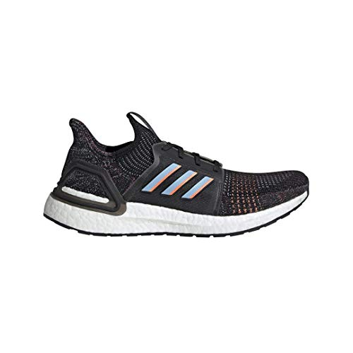 adidas Men's Ultraboost 19 Running Shoe, black/glow Blue/Black, 10.5 M US