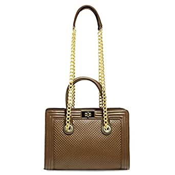 Dilaks 26772 Satchel Bag for Women - Synthetic, Brown