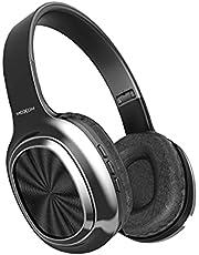 سماعة ستيريو فوق الاذن تعمل بالبلوتوث لاسلكية من موكسوم MX-WL26، سوبر باس ، فتحة تي اف ، راديو، ايه يو اكس - اسود