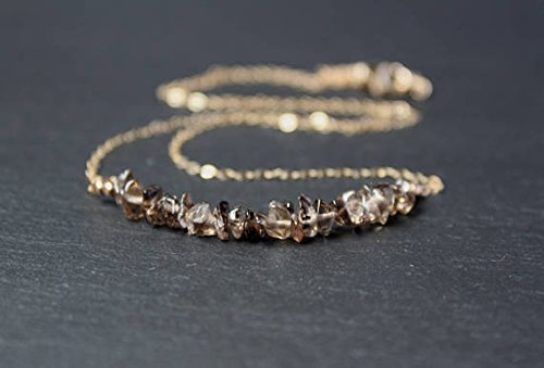 Smokey Topaz Necklace, Smoky Topaz Rough Necklace, for sale  Delivered anywhere in USA