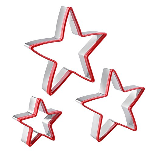 FASAKA 3pcs Stainless Steel Star Cookie Cutters...