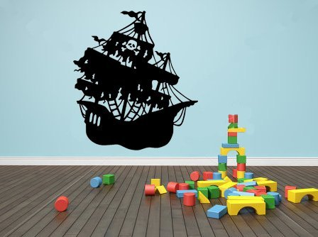 Vinyl Wall Art Decal - Pirate Ship - 23