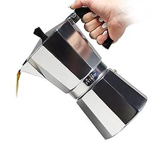Primula Stovetop Espresso Coffee Maker - For Bold, Full Body Espresso – Easy to Use – Makes 6 Traditional Demitasse Cups