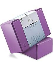 "Node Fitness Premium Yoga Block (Set of 2) - 4"" Thick Foam Brick"