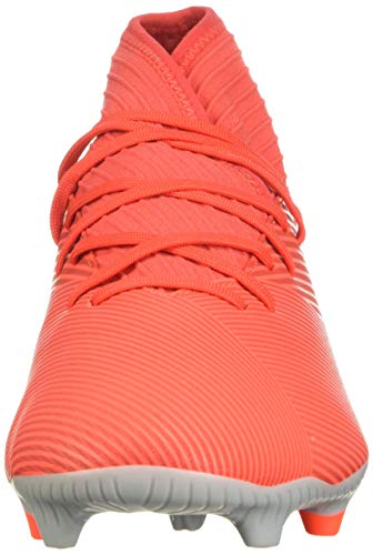adidas Men's Nemeziz 19.3 Firm Ground Soccer Shoe, Active Red/Silver Metallic/Solar Red, 7.5 M US 2