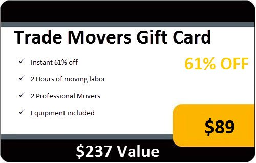 2 Hours of Moving Labor Services By Trade Movers