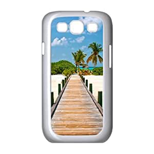 Tropical Dock Samsung Galaxy S3 Cases, Samsung Galaxy S3 Case for Men Cool Non Slip Okaycosama - White