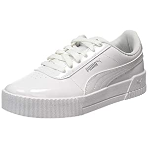 PUMA Carina Patent Womens Ladies Fashion Trainer Sneaker Shoe White