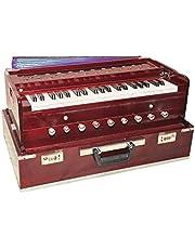 Musikaler Trä Bärbar Vikbar 3,5 Octave 9 Stopper Harmonium med Koppling/Indisk Harmonium/Professionell Harmonium/Handgjord Harmonium/Bärbar Harmonium