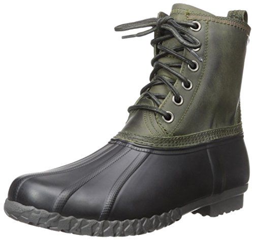 G.H. Bass & Co. Men's Dixon Rain Boot, Olive/Black, 7 M US