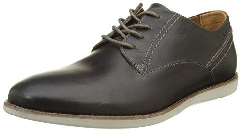 Grigio Leather Franson Clarks Scarpe Grey Stringate Plain Uomo TfaT7F