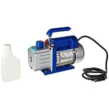 HomCom Single Stage 4 CFM Rotary Vane Vacuum Pump - Blue/Silver